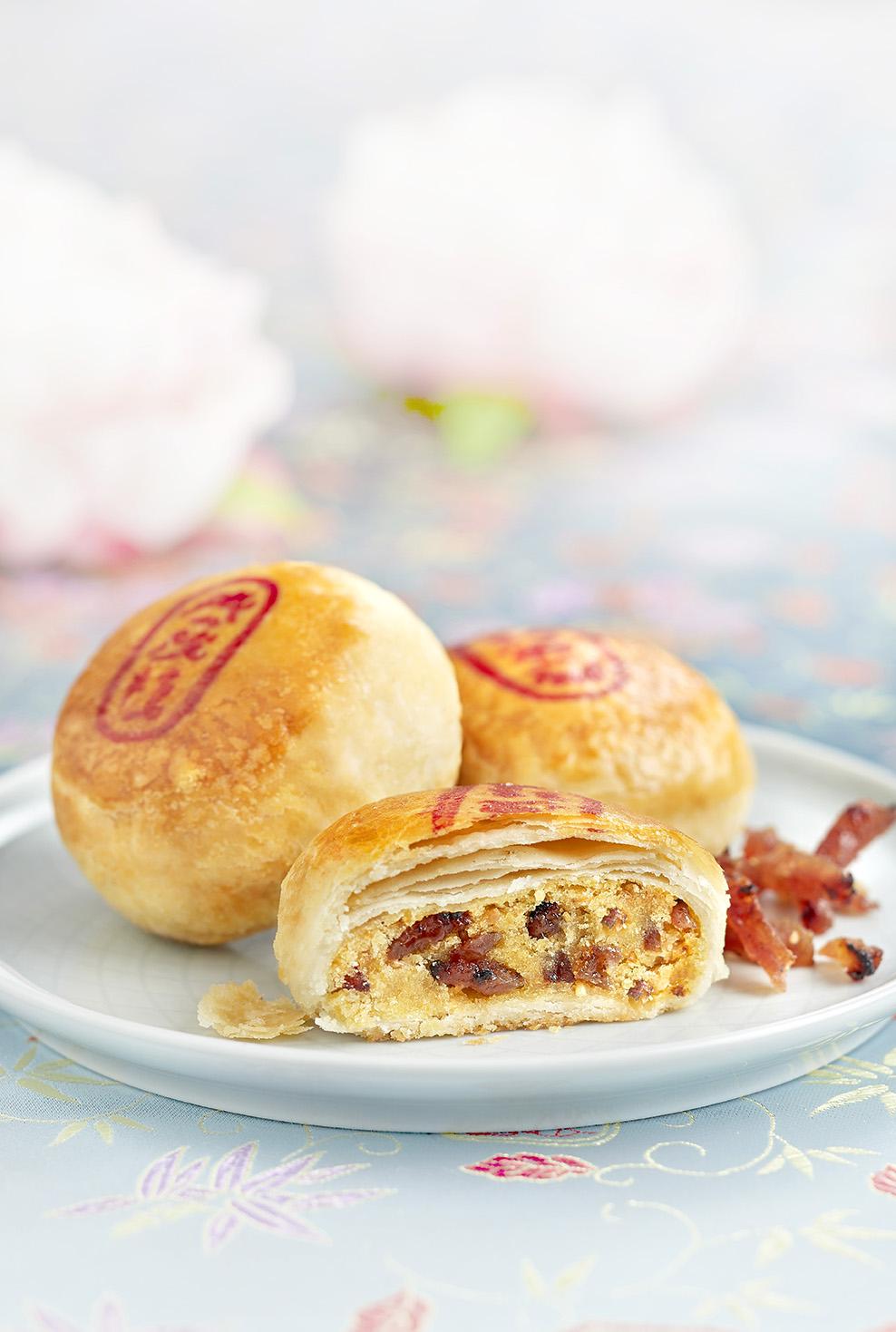 Bak Kwa Tau Sar Piah - 金钱肉干饼
